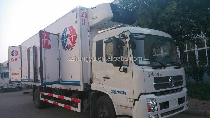 6T-12T Dongfeng meat hook refrigerator truck refrigerator truck,Dongfeng box truck