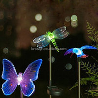 XLTD-722-1 Solar Powered Hummingbird, Butterfly & Dragonfly Garden Stake Light with Color Changing LEDs