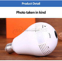 China supplier wholesale 360 degree viewing angel Indoor using hidden wifi light bulb camera