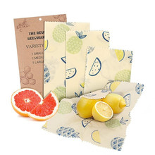 Custom Natural Organic Fabric Reusable Storage Beeswax Packaging Food Wrap 3 Pack Wax <strong>Paper</strong>