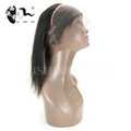 FREE SHIPPING 10AVirgin Brazilian 22cmx4cm*2cm Straight Human Hair Ear To Ear Elastic Band 360 Lace Frontal Closure