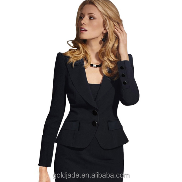 Hot sale ladies two pieces short sleeve blazer and skirt set women office business suit