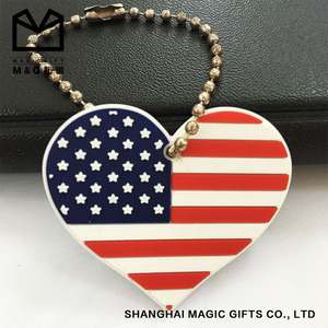 country flag shape custom keychains