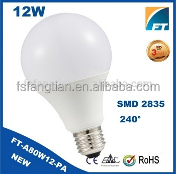 Foshan Light factory A80 12W SMD LED Bulbs, E27 B22 high brightness LED Light Bulb,100-240V Bulb lamp LED A60