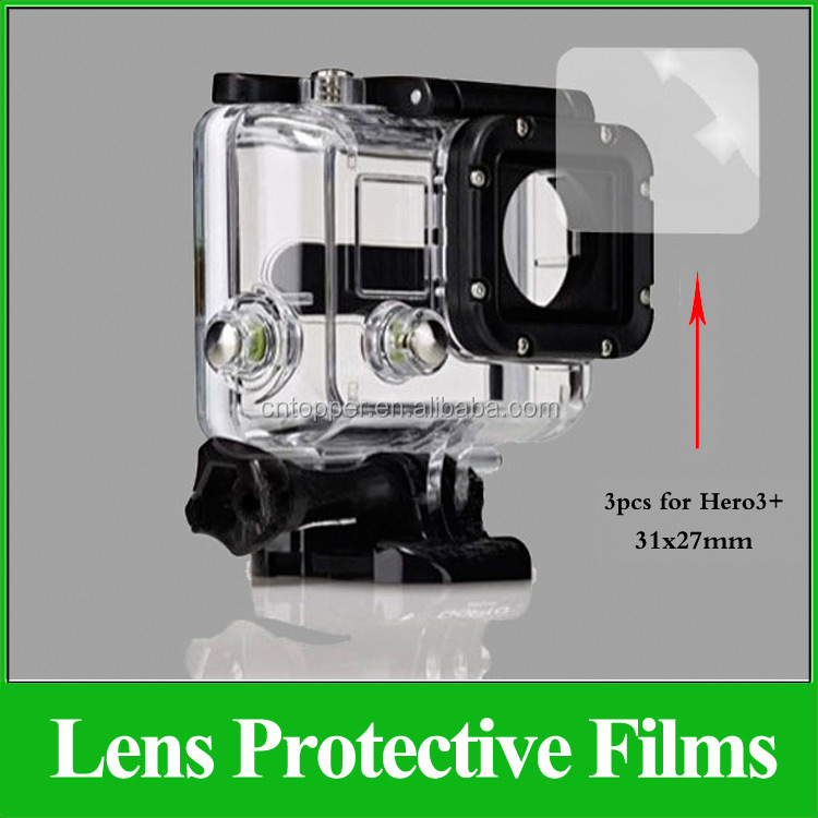 GP173 Ultra Clear High-end Waterproof Shell Lens Protector Protective Films for Go pro Hero4 3+ 3 Sports Action Camera