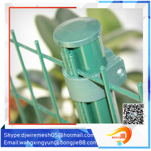 strong curved steel building fence with peach post(china supplier)