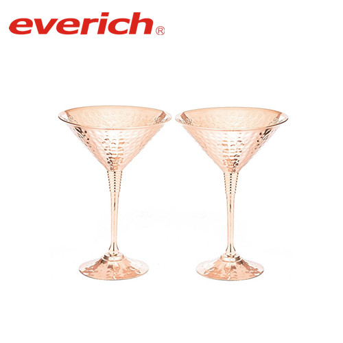 Wholesale Stainless Steel Martini Glasses Copper Plated Cocktail Champagne Goblet 170ML