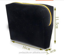 Yiwu personalized cheap velvet cosmetic bag