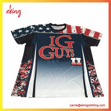Wholesale Monster Design sublimation t shirt digital printing / custom sublimated t shirt/cheapest
