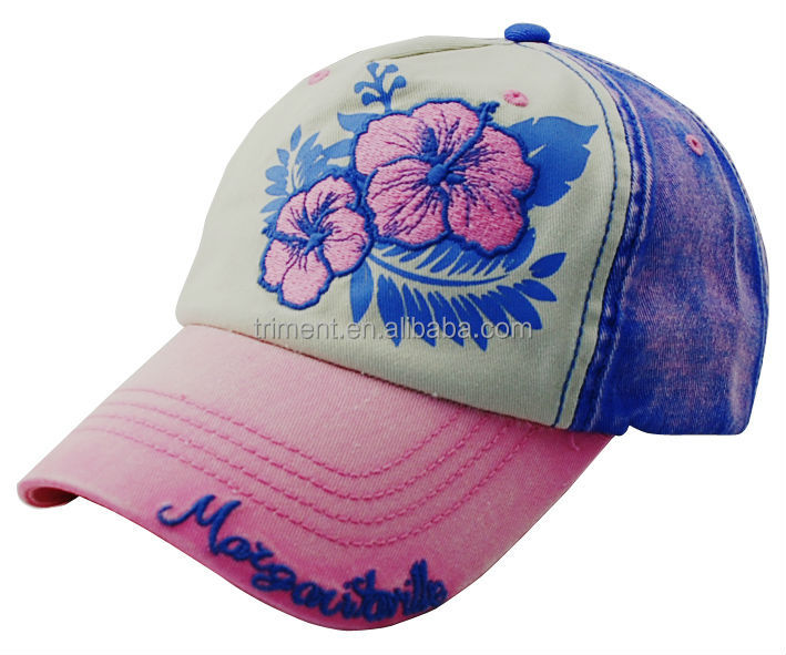 Special faded wash fashion cap