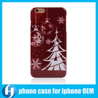 Factory direct sale fine quality christmas mobile phone case for iphone6
