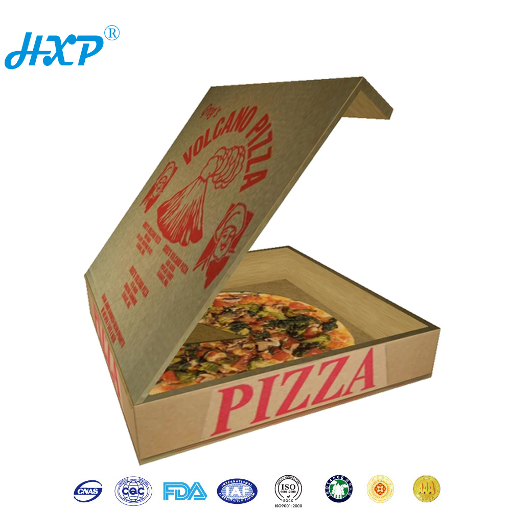 Food grade Packaging High standard kraft paper pizza delivery box
