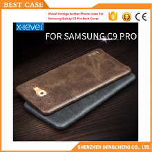 Xlevel Luxury Vintage leather Phone cases For Samsung Galaxy C9 Pro Back Cover