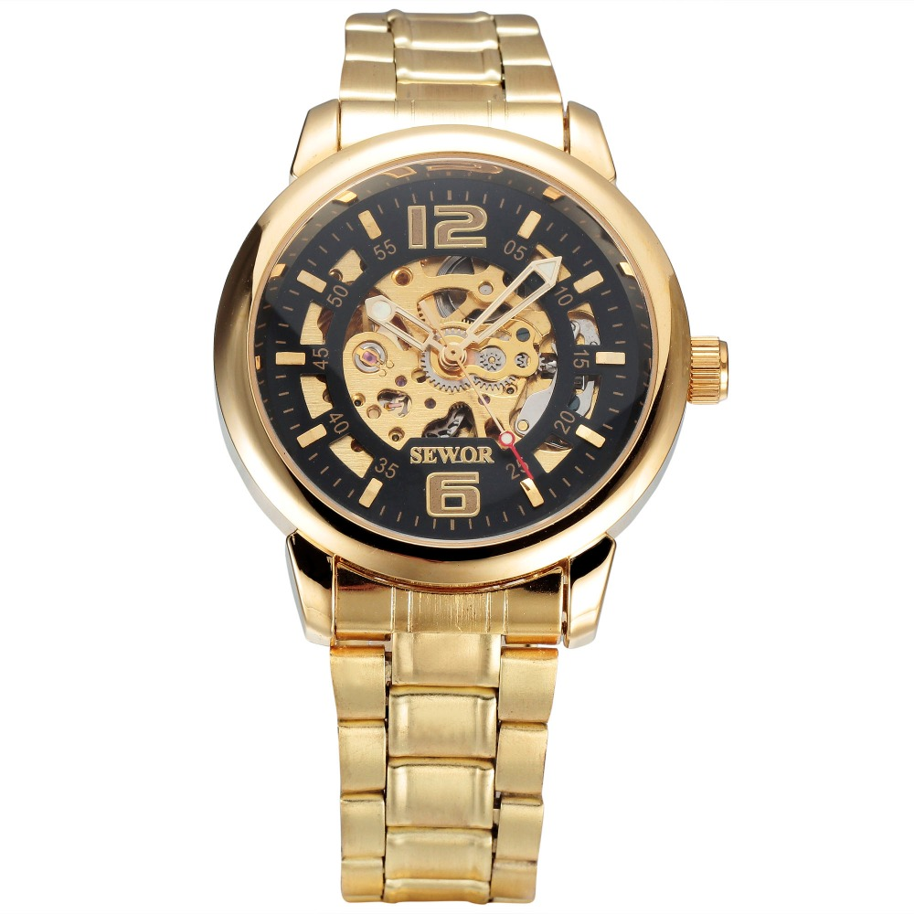 Alibaba new design Skeleton Automatic Mechanical Watch wholesale High quality sewor brands watch