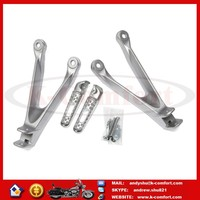 KCM625 SILVER PASSENGER REAR FOOT REST PEG BRACKET KIT FOR 2008-2014 HONDA CBR1000RR