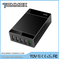 5V 8A 40W desktop phone usb charger, 5 port usb mobile phone charger accessories
