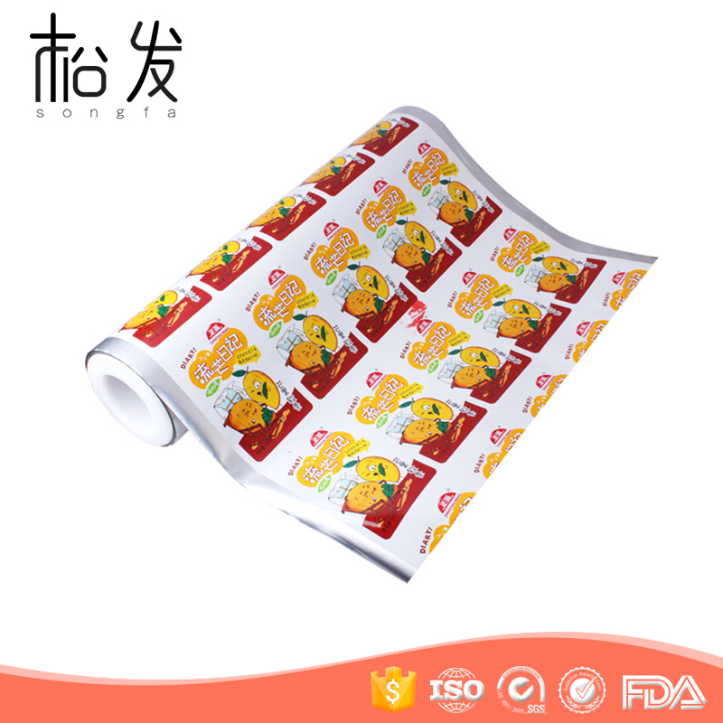 High quality customized plastic foil packaging roll for jelly