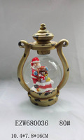 Handing snowing Lantern snow globe Handwork movable Christmas Decoration