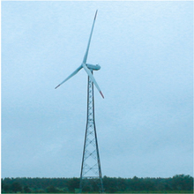 stable Galvanized Octangular tubular pipe steel wind power tower