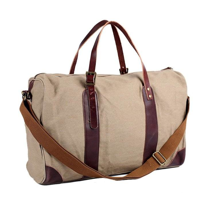 Unsex Oversized Canvas Travel Tote Luggage Weekend Duffel Bag