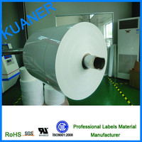 White PET blank labels jumpo roll / removable glue stickers label
