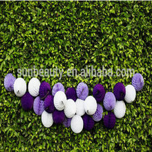 2015 wholesale banquet hall wall decoration with tissue paper garland