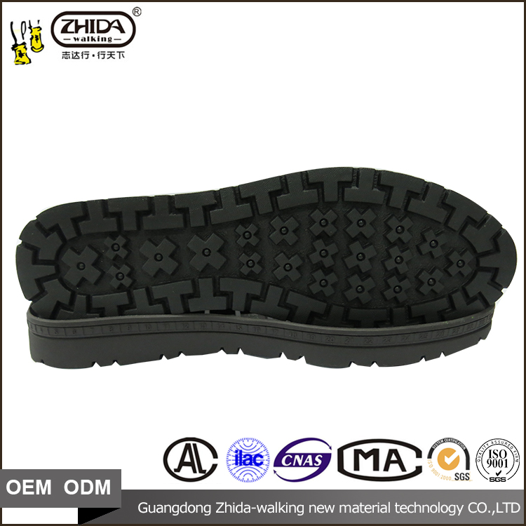 Rubber Outsole Material and Men Gender fashion walking shoe soles with size 37-43