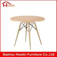 Plywood Round Furniture Coffee Table Wood And Metal