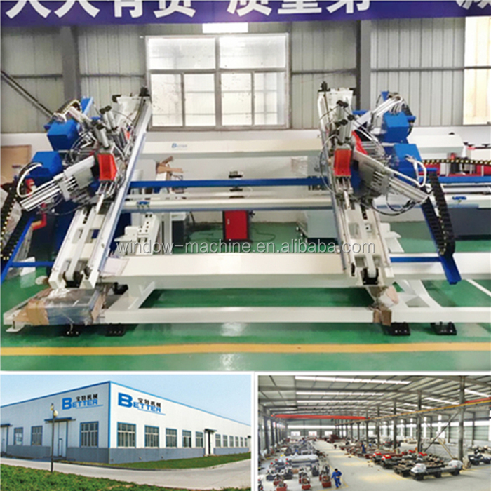 PVC windows assembly machine / Vertical 4 points solder