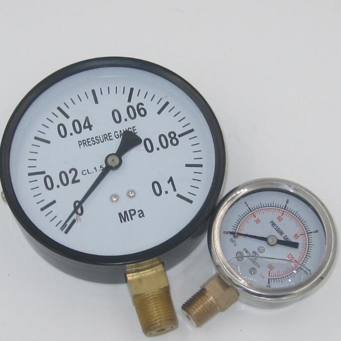 Top quality stainless steel case caterpillar hydraulic pressure gauge