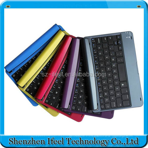 Aluminum Stand Ultra Thin Bluetooth Wireless KeyBoard Case For iPad mini 1/2/3