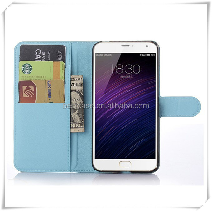 Wholesale Solid Colors Flip Leather Phone Case Back Cover For ZTE Nubia N1 With Credit Card Holder