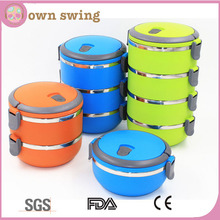 Multi-layer Stackable Bento Stainless Steel Lunch Box/Stainless Steel Bento Lunch Box for Kids/Thermal Food Container Food Box