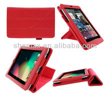 Origami Vegan Leather Case Cover for Google Nexus 7, Red