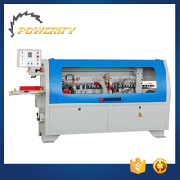 Powerify Brand MF503Q Wood Furniture PVC MDF Veneer Rubber Adhesion Glue Trimmer Semi-Automatic Edge Banding Machine