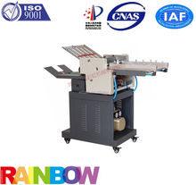 small Air Suction paper folding machine can half two time and three folds outside