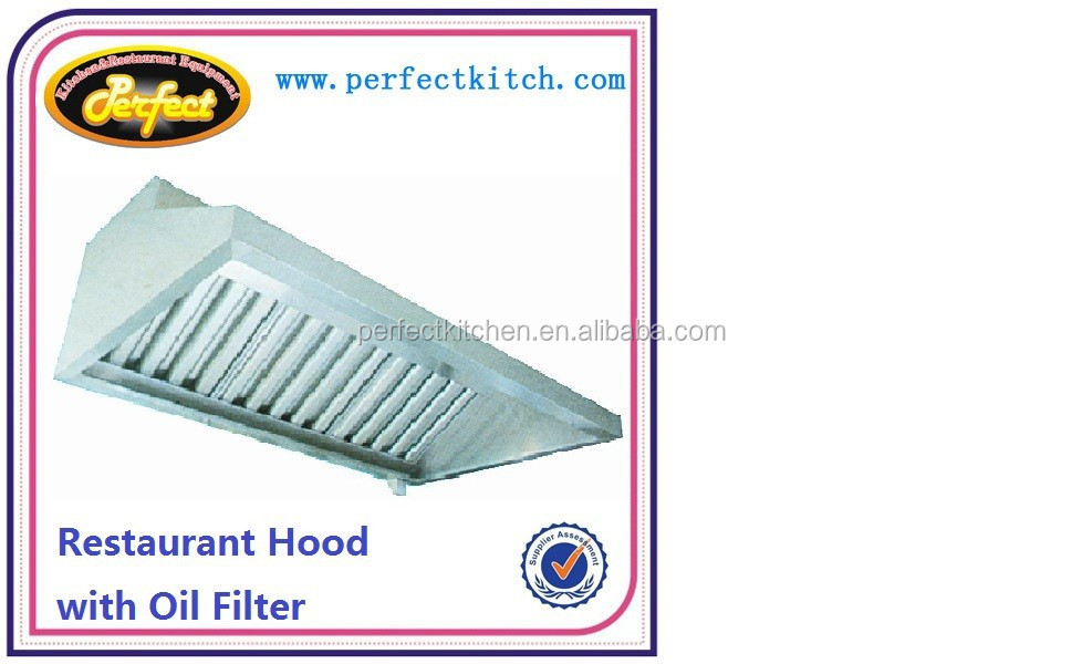 Stainless steel commercial kitchen extractor hood for Perfect kitchen equipment