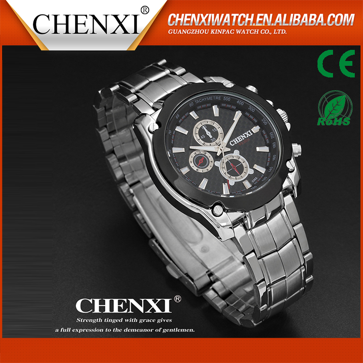 China Suppliers High Quality Stainless Steel Man Watch Top 2016