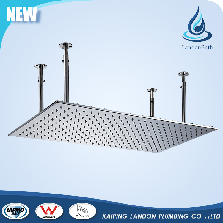 Top supplier deluxe ceiling stainless steel rain shower head