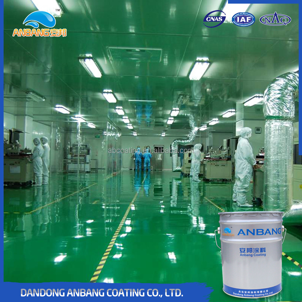 AB300M anti-slip wear-resisting self-levelling epoxy floor coating with resistance to oil and chemical resistance