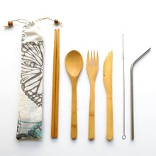 Outdoor and <strong>sports</strong> take away bamboo cutlery set travel/bamboo utensil set for wedding door gifts guests