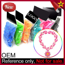 New Rainbow Color Fashion Elastic Loom Bands