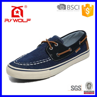 RZWOLF 2016 new design navy jeans flat canvas sneakers men