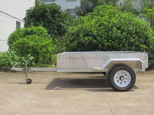 with ramp,self-tipping trailers,6x4,small tilting aluminum box trailer