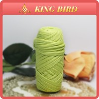 Wholesale Neon green hand Space Dyed T Shirt Yarn