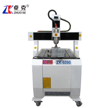 4 axis wood mdf acrylic cnc engraving machine ZK-6090 2.2kw spindle stepper motor