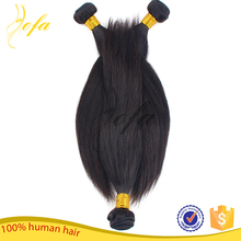 Cuticle aligned best quality factory price virgin indian human red color indian remy human hair weaving