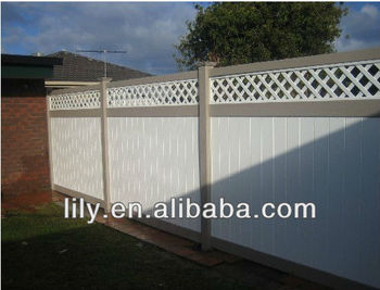 High quality plastic fence vinyl fence, decorative garden fencing with lattice