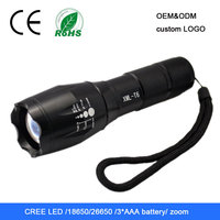 High power zoom tactical g700 led flashlight