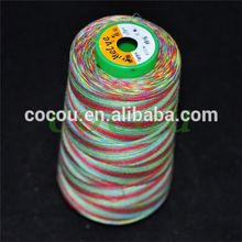 hot selling multi color polyester embroidery thread